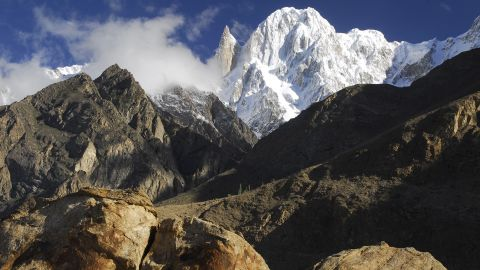 <strong>Iconic peaks: </strong>Ladyfinger Peak (the sharp peak on the left) and Hunza Peak (right) are two of the most iconic mountains in the Gilgit-Baltistan region.
