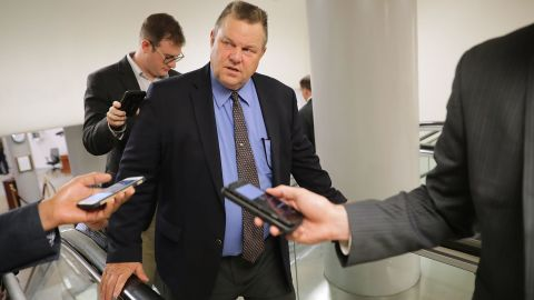 WASHINGTON, DC - JULY 31:  Sen. Jon Tester (D-MT) talks to reporters as he heads to the U.S. Capitol for a vote July 31, 2017 in Washington, DC. (Chip Somodevilla/Getty Images)