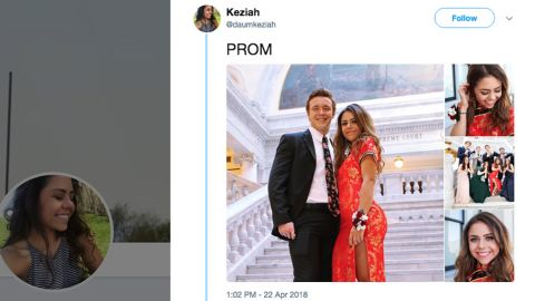 A photo posted by user @duamkeziah of her prom dress went viral and sparked a heated debate on cultural appropriation.