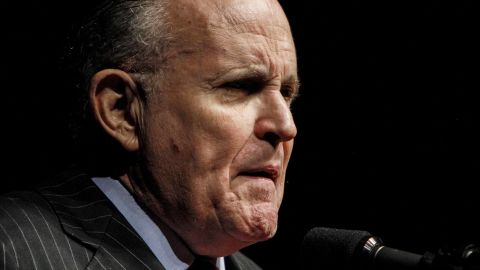 BANGOR, ME - OCTOBER 15:  Former New York City mayor Rudy Giuliani speaks at a rally for Republican presidential candidate Donald Trump at Cross Insurance Center on October 15, 2016 in Bangor, Maine. Trump is spending the day campaigning in New Hampshire and Maine.  (Photo by Sarah Rice/Getty Images)