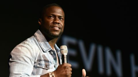 LAS VEGAS, NV - APRIL 13:  Actor Kevin Hart speaks onstage during CinemaCon 2016 as Universal Pictures Invites You to an Exclusive Product Presentation Highlighting its Summer of 2016 and Beyond at The Colosseum at Caesars Palace during CinemaCon, the official convention of the National Association of Theatre Owners, on April 13, 2016 in Las Vegas, Nevada.  (Photo by Alberto E. Rodriguez/Getty Images for CinemaCon)