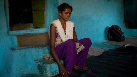 Janki Goud, 23, in her home in Madhya Pradesh.