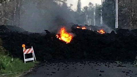 Lava on Mohala Street in Leiliani Estates in Hawaii
