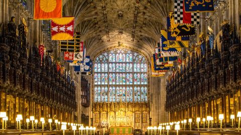 WINDSOR, UNITED KINGDOM - FEBRUARY 11: A view of the choir in St George's Chapel at Windsor Castle, where Prince Harry and Meghan Markle will have their wedding service, February 11, 2018 in Windsor, England. The Service will begin at 1200, Saturday, May 19 2018. The Dean of Windsor, The Rt Revd. David Conner, will conduct the Service. The Most Revd. and Rt Hon. Justin Welby, Archbishop of Canterbury, will officiate as the couple make their marriage vows. (Photo by Dominic Lipinski - WPA Pool/Getty Images)