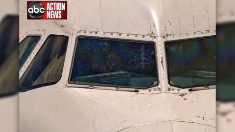 A JetBlue flight from San Juan to Tampa was diverted when the outer layer of the plane's windshield shattered.