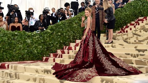 NEW YORK, NY - MAY 07:  Blake Lively attends the Heavenly Bodies: Fashion & The Catholic Imagination Costume Institute Gala at The Metropolitan Museum of Art on May 7, 2018 in New York City.  (Photo by John Shearer/Getty Images for The Hollywood Reporter)