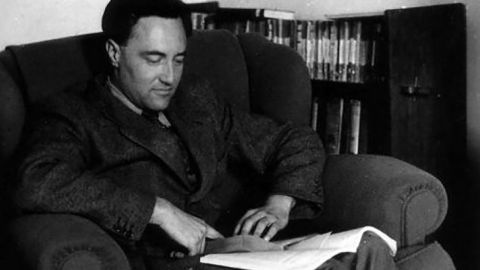 Goodall at work in the 1950s.