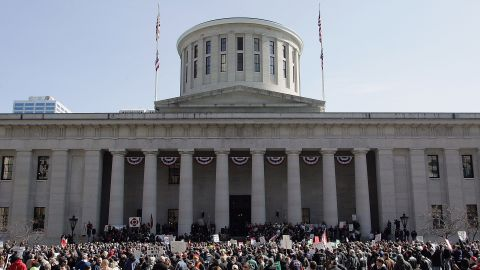 The Ohio Statehouse on March 8, 2011, in Columbus, Ohio.