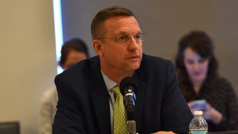 Doug Collins participates in the  60th Annual GRAMMY Awards - House Judiciary Hearing at Fordham Law School on January 26, 2018, in New York.