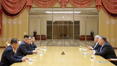 Kim and Pompeo meet in Pyongyang.