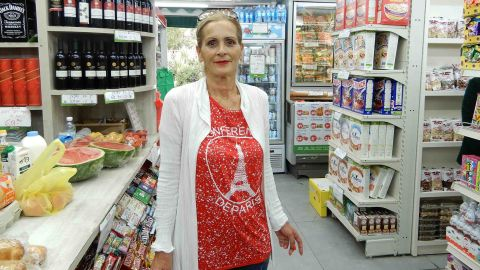 Riki Turjeman, a 52-year-old woman who lives in Arnona