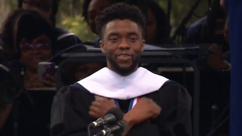 title: Chadwick Boseman's Howard University 2018 Commencement Speech  duration: 00:34:41  site: Youtube  author: null  published: Mon May 14 2018 10:29:12 GMT-0400 (EDT)  intervention: yes  description: Howard University alumnus Chadwick Boseman provides words of inspiration to the Class of 2018 during Howard University's 150th Commencement Ceremony on Saturday, May 12 in Washington, D.C.