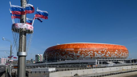 Featuring a striking orange, red and white exterior, construction on the 44,442-seater Mordovia Arena began in 2010. Initially hoped to be completed two years later for the 1,000th anniversary of the Mordovian people's unification with Russia's other ethnic groups, it was eventually finished in April 2018.
