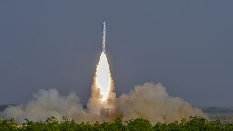 A rocket launch from China's Onespace - a private company.