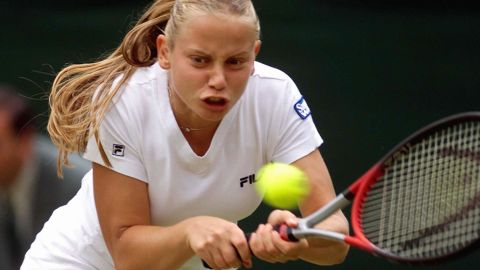 Jelena Dokic, seen here during the 2000 Wimbledon Championships, rose to No. 4 in the world despite suffering years of mental, emotional and physical abuse at the hands of her father.