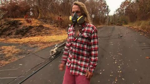 Steve Gebbie has come near his home almost daily since he evacuated from Leilani Estates.