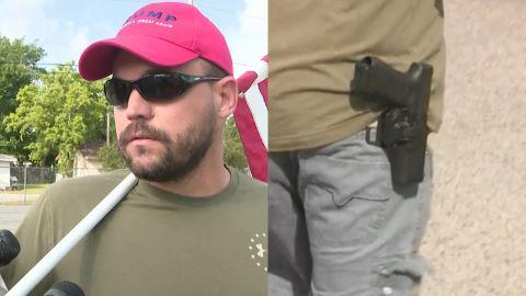 armed Trump supporter outside school shooting sot_00002901.jpg