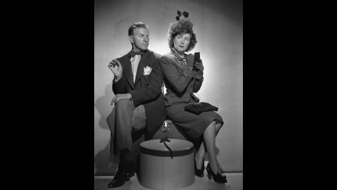 Husband-and-wife comedy duo George Burns and Gracie Allen rocketed to success on radio, and later, TV. After Allen's death in the 1960s, Burns -- with his trademark cigar -- continued performing as a solo act. He performed in movies and on TV well into his golden years -- making his final film appearance in 1994. Burns died two years later, at age 100.