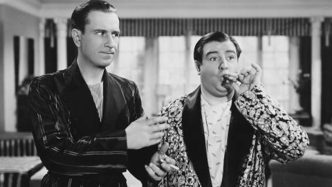 """The popularity of Bud Abbott, left, and Lou Costello, right, propelled them from 1930s burlesque theaters to a national radio show in the '40s, to the movies and TV. Abbott and Costello may be most known by their famous """"Who's on first?"""" routine -- which became a staple of their act."""