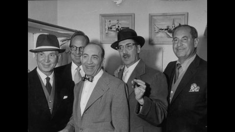 After enjoying success in the 1930s and '40s, the Marx brothers experienced a revival among college-aged audiences in the 1960s because of their characters' irreverence and lack of respect for authority. Their chemistry as a comedy team was second to none. From left to right, Harpo Marx, Zeppo Marx, Chico Marx, Groucho Marx, and Gummo Marx.