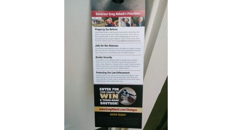 Vikki Goodwin saw this flyer on Saturday afternoon advertising the giveaway.