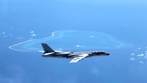 """BEIJING, July 26, 2017  :  File photo taken in July, 2016 shows Chinese H-6K bomber patrolling islands and reefs including Huangyan Island in the South China Sea.   It has been a big year for China's military as the People's Liberation Army (PLA) is to celebrate its 90th birthday. As Aug. 1, the birthday of the PLA, approaches, the country's army has shown how much its military capacity has grown and how committed it is to maintaining world peace.  The PLA has come a long way since its birth during the armed uprising in the city of Nanchang on August 1, 1927, when it had only 20,000 soldiers. Ninety years later, the country boasts 2 million servicemen, according to a national defense white paper titled """"China's Military Strategy,"""" published in 2015. Besides the growth in numbers, the PLA has armed its soldiers with world-class equipment.   As of June 2017, the Chinese military had participated in 24 UN peacekeeping missions, sending 31,000 personnel, 13 of whom lost their lives in duty. Since 2008, the Navy has dispatched 26 escort task force groups, including more than 70 ships for escort missions in the Gulf of Aden and off the coast of Somalia. More than 6,300 Chinese and foreign ships have been protected during these missions. (Xinhua/Liu Rui via Getty Images)"""