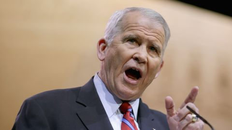 NATIONAL HARBOR, MD - MARCH 07:  Former United States Marine Corps Lieutenant Colonel and television host Oliver North speaks during the second day of the Conservative Political Action Conference at the Gaylord International Hotel and Conference Center March 7, 2014 in National Harbor, Maryland. The CPAC annual meeting brings together conservative politicians, pundits and their supporters for speeches, panels and classes.  (Photo by Chip Somodevilla/Getty Images)