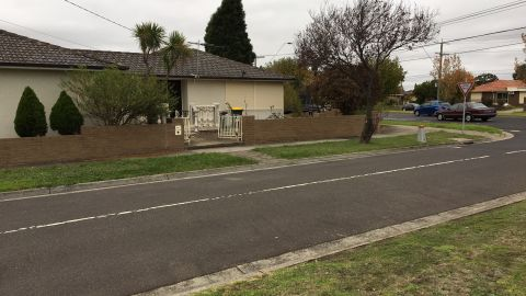 The grenade was thrown at a house on a quiet street in Lalor, Melbourne.