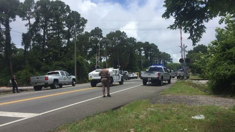 A heavy police presence was reported in the area Tuesday in Panama City, Florida.