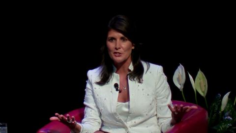 Nikki Haley, the U.S. ambassador to the United Nations, will discuss leadership and global challenges in a special address to students at the University of Houston next week.    Palestine protests at 17:07.