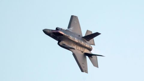 An Israeli F-35 fighter jet performs in an air show during the graduation ceremony of Israeli air force pilots at the Hatzerim base in the Negev desert, near the southern Israeli city of Beer Sheva, on December 29, 2016. / AFP / JACK GUEZ        (Photo credit should read JACK GUEZ/AFP/Getty Images)