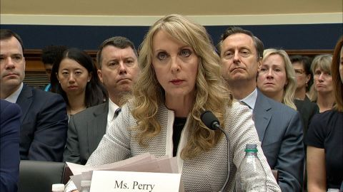 USA Gymnastics CEO Kerry Perry spoke before Congress as part of a House hearing hearing examining the Olympic community's role in sex abuse scandals on May 23, 2018.