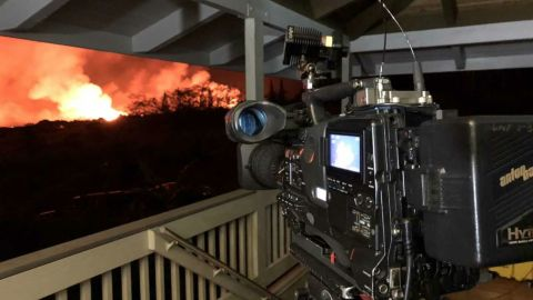 The view from behind CNN's Lava Cam.