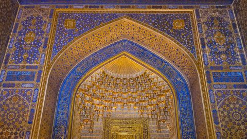 <strong>Samarkand, Uzbekistan: </strong>The three medressas in Registan plaza in northeast Uzbekistan were built between the 15th and 17th centuries and are among the world's oldest educational institutions of their kind.