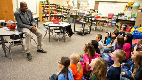 Forest Whitaker engages with students through the Kennedy Centers Turnaround Arts program.