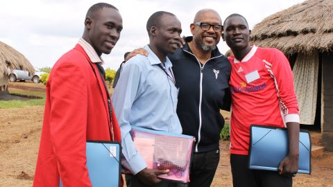 Forest Whitaker with WPDI youth peacemakers in Uganda.
