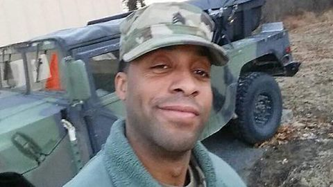 Guardsman Eddison Hermond was carried away by floodwater, witnesses said.