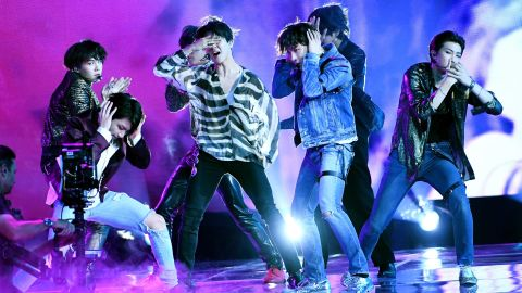 Music group BTS performs onstage during the 2018 Billboard Music Awards at MGM Grand Garden Arena on May 20, 2018 in Las Vegas, Nevada.  (Photo by Kevin Winter/Getty Images)