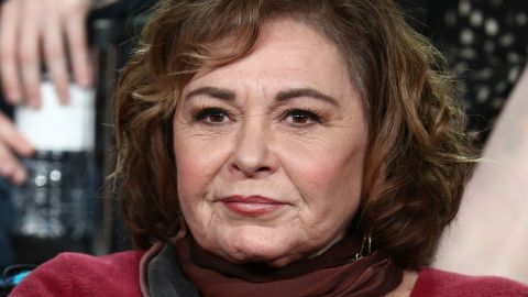 PASADENA, CA - JANUARY 08:  Executive producer/actress Roseanne Barr of the television show Roseanne speaks onstage during the ABC Television/Disney portion of the 2018 Winter Television Critics Association Press Tour at The Langham Huntington, Pasadena on January 8, 2018 in Pasadena, California.  (Photo by Frederick M. Brown/Getty Images)