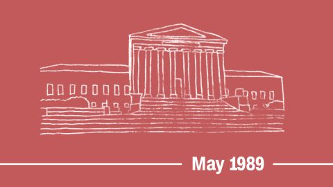 """May 1989 -- The <a href=""""http://caselaw.findlaw.com/us-supreme-court/490/228.html"""" target=""""_blank"""" target=""""_blank"""">Supreme Court rules</a> that discrimination based on """"sex stereotyping"""" -- such as denying a promotion to a woman because she's not feminine enough -- violates the Civil Rights Act of 1964."""