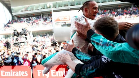 After his unlikely victory in Azerbaijan, it was a second straight win for Hamilton as he bids for a fifth world championship -- and it could not have been more comfortable.