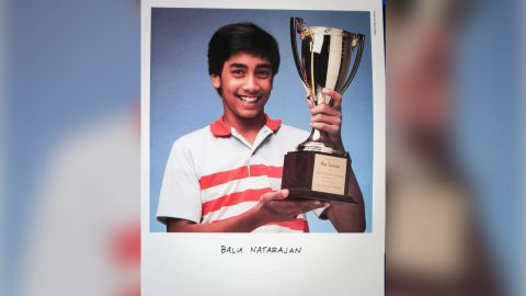 Balu Natarajan poses in 1985 after winning the Scripps National Spelling Bee.