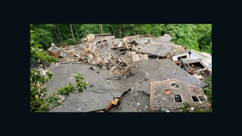 A search and rescue ensued after two people were reported in the structure in Boone, North Carolina.