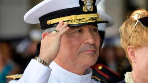 180530-F-ID393-0082 JOINT BASE PEARL HARBOR-HICKAM (May 30, 2018) Adm. Phil Davidson relives retiring Adm. Harry Harris as commander of U.S. Pacific Command during a Change of Command ceremony at Joint Base Pearl Harbor-Hickam, Hawaii. USPACOM is committed to enhancing stability in the Indo-Pacific region by promoting security cooperation, encouraging peaceful development, responding to contingencies, deterring aggression, and, when necessary, fighting to win. (U.S. Air Force Photo by Airman 1st Class