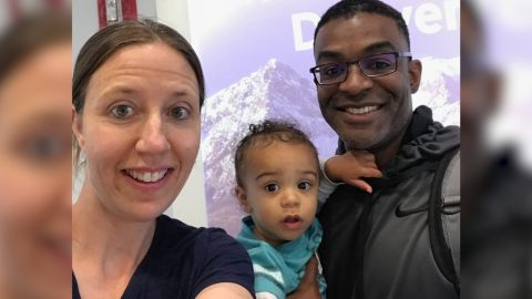 Lindsay Gottlieb, fiance Patrick Martin and their son Jordan.