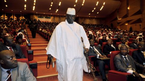 Former Gambian President Yahya Jammeh at a conference in 2013.