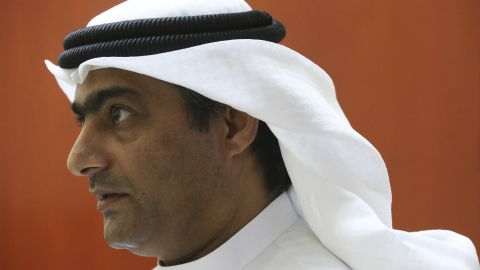 Ahmed Mansoor -- seen here in a 2016 file photo -- was convicted of using social media to harm the reputation of the United Arab Emirates.