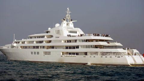 "Giant yacht Dubai, owned by Dubai ruler Sheikh Mohammed bin Rashid Al Maktoum, was originally built for Prince Jefri Bolkiah of Brunei. <a href=""https://web.archive.org/web/20131224163749/http://www.superyachts.com/motor-yacht-2611/dubai.htm"" target=""_blank"" target=""_blank"">The yacht boasts seven decks and enough space for 115 people including crew.  </a>"