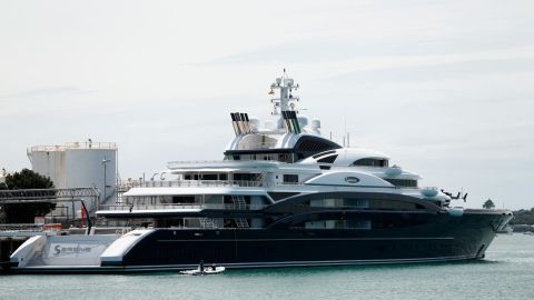 """The 134-meter superyacht Serene was <a href=""""https://www.nytimes.com/2016/10/16/world/rise-of-saudi-prince-shatters-decades-of-royal-tradition.html"""" target=""""_blank"""" target=""""_blank"""">reportedly purchased</a> by Saudi Crown Prince Mohammed bin Salman from Russian vodka tycoon Yuri Schefler in 2015 for $550 million. Previously, it had been rented by Microsoft founder Bill Gates <a href=""""https://www.upi.com/Top_News/US/2014/08/10/Bill-Gates-takes-vacation-on-330M-yacht/8141407687450/"""" target=""""_blank"""" target=""""_blank"""">for $5 million per week. </a>In 2017 the ship sustained damage <a href=""""http://www.superyachtnews.com/fleet/134m-serene-runs-aground-in-red-sea"""" target=""""_blank"""" target=""""_blank"""">when it ran aground off the coast of Egyptian resort Sharm El Sheikh. </a>"""
