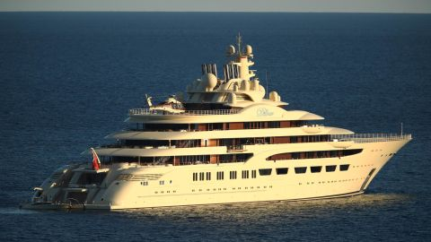 """Considered the world's largest yacht by overall size, Dilbar is owned by Arsenal major shareholder  Alisher Usmanov. <a href=""""http://www.beautifullife.info/automotive-design/worlds-top-10-most-expensive-luxury-yachts/"""" target=""""_blank"""" target=""""_blank"""">Named after the owner's mother</a>, the 156-meter superyacht boasts two helipads and has a top speed of 22.5 knots. <br />"""